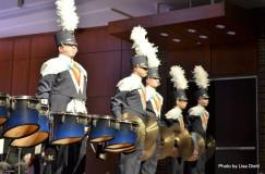 """West Shore Drum Line performs """"Little Drummer Boy""""."""
