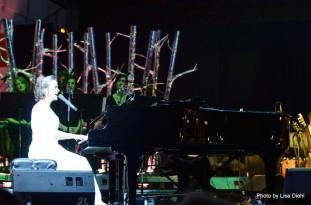 Frances at the grand piano.
