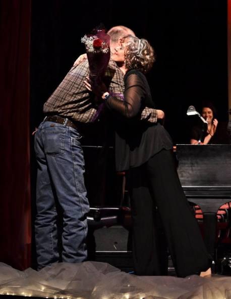 Tom hugs Frances PoW